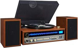Crosley 1975T Turntable System with Bluetooth, CD, AM/FM and