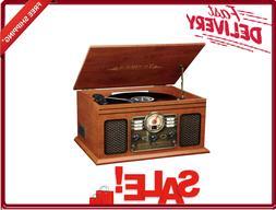 Victrola 6 in 1 Record Player Nostalgic Bluetooth 3-Speed Tu