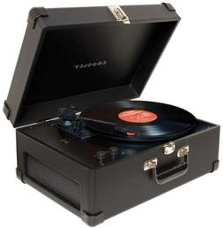 Crosley Radio Keepsake Deluxe Portable USB Turntable in Blac