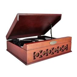 Pyle Updated Bluetooth Retro Turntable - With Speakers, Wire