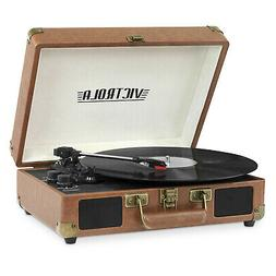 Victrola Bluetooth Portable Suitcase Record Player With 3-sp