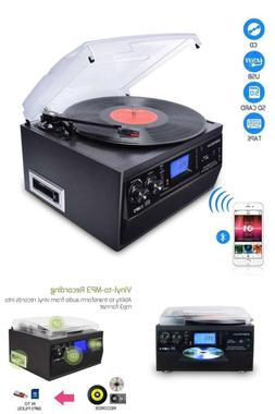 DIGITNOW Bluetooth Record Player Turntable with Stereo Speak