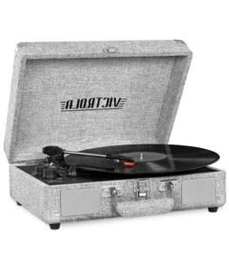 Victrola Bluetooth Suitcase Record Player with 3 Speed + Ext