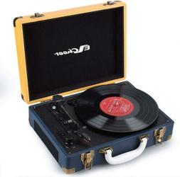 Bluetooth Vintage Vinyl Record Player 3-Speed Turntable Spea