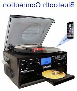 Boytone BT-22B,Bluetooth Record Player Turntable AM/FM Casse