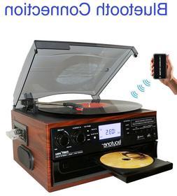 Boytone BT-22M, Bluetooth Record Player Turntable, AM/FM Rad