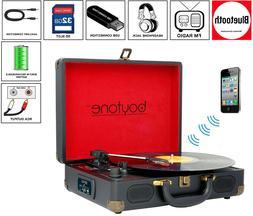 Boytone BT-101B Bluetooth Turntable Record Player Portable B