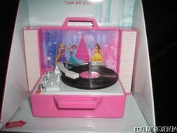 DISNEY PRINCESS~RECORD PLAYER ORNAMENT~MUSIC~LIGHTS~DECK THE