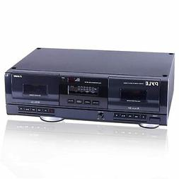 Dual Stereo Cassette Tape Deck - Clear Audio Double Player R