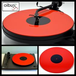 Gloss Red Acrylic Turntable Platter Mat. Fits REGA, PRO-JECT