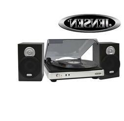 Jensen Jta-325 3-Speed Turntable With Stereo Speakers 15.00I