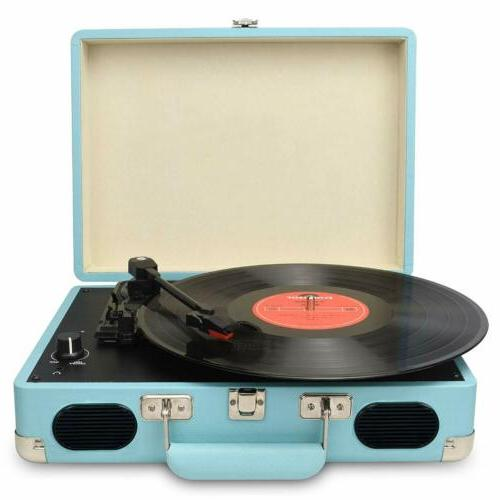 Vintage Turntable,3 Speed Vinyl Record Player with Built-in
