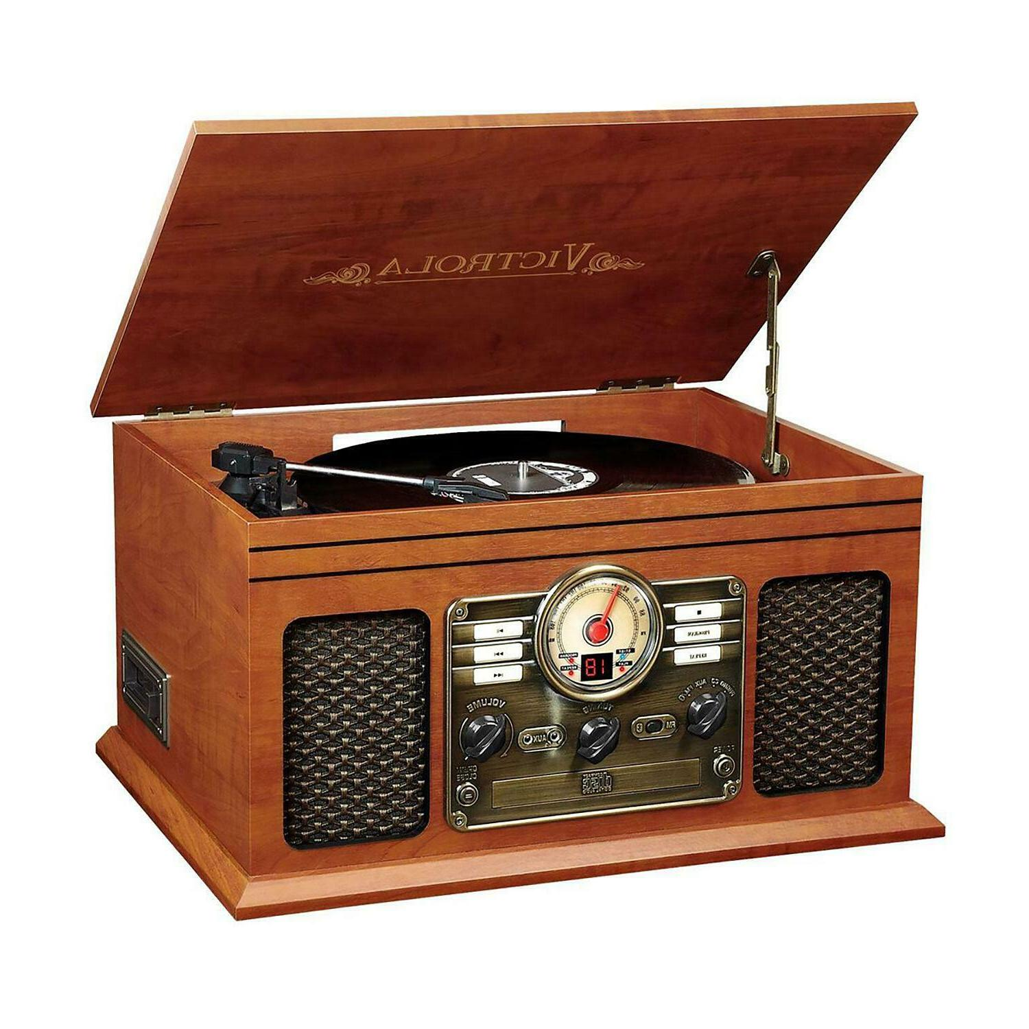 Victrola 6-in-1 Nostalgic Bluetooth Record Player- 3-Speed T