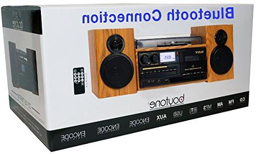Boytone Style Record with Radio, / Cassette Separate Record from Cassette MP3, Slot, USB,