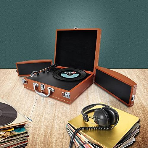 Upgraded Player Classic Player, Bluetooth Devices, Vinyl, Music Editing Included, & 2 - PVTTBT8BR