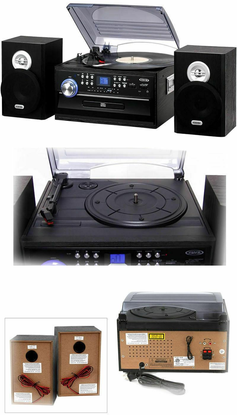 AM FM Stereo with 3 Turntable and Cassette,