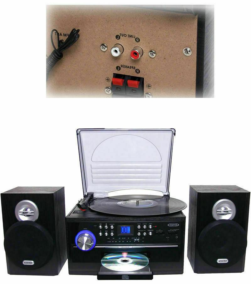 AM Stereo with Turntable and CD System Cassette, Jensen