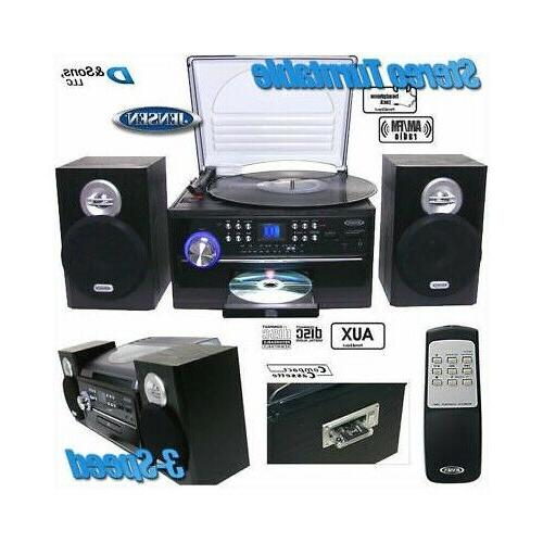 AM with 3 Turntable and CD Cassette,