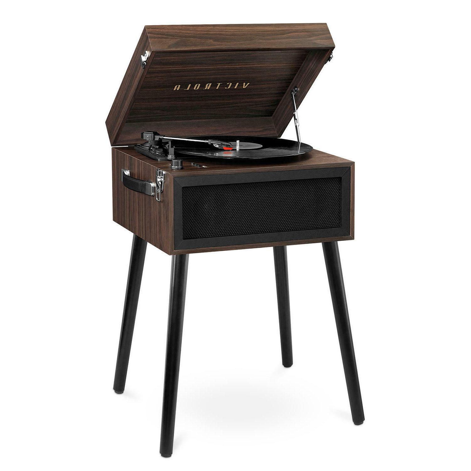 bluetooth record player stand with 3 speed