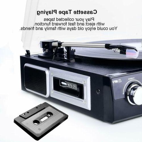 Bluetooth Record with Speakers Vinyl