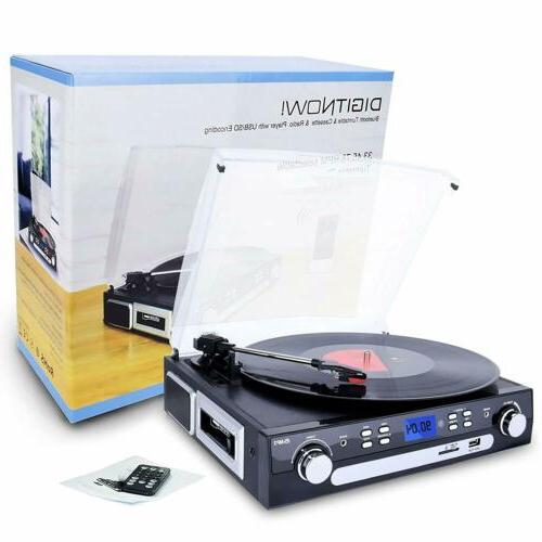 Bluetooth Record with Speakers Vinyl to