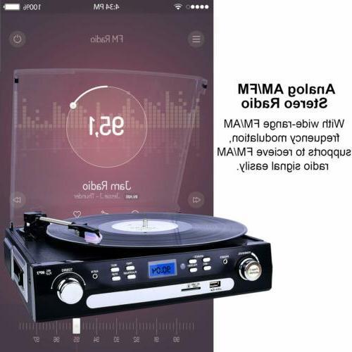 Bluetooth Record Player Vinyl MP3 Converter