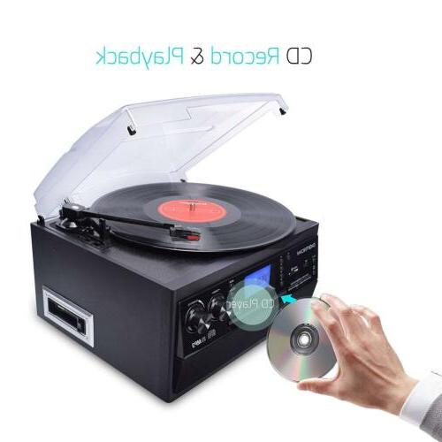 Bluetooth Stereo Player Turntable LP to Converter