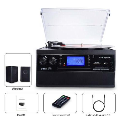 Bluetooth Speaker Record Player Turntable LP to Converter
