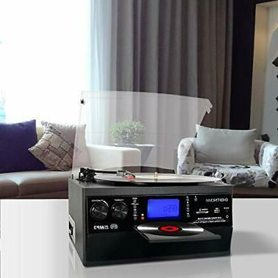 Bluetooth Record Player Turntable with Stereo Vinyl to