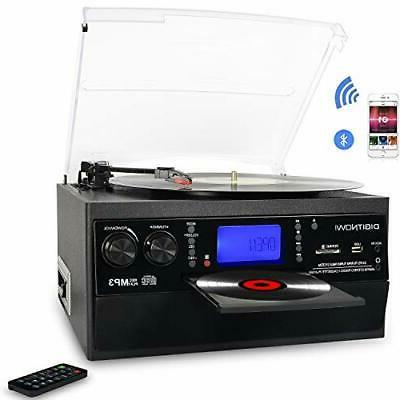 Bluetooth Record Player Turntable with Stereo Speaker, LP Vi