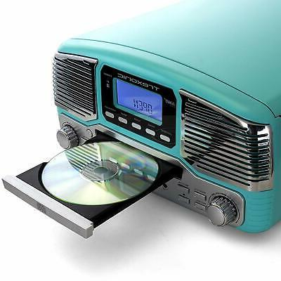 BLUETOOTH 33/45/78 RPM RECORD CD PLAYER FM SYSTEM
