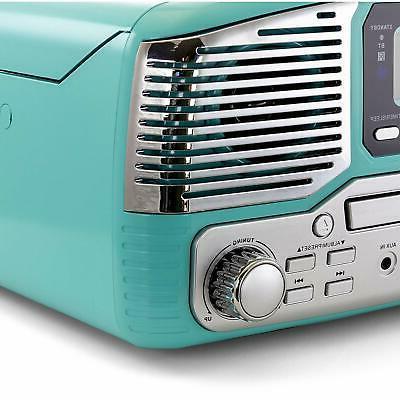 BLUETOOTH RETRO 33/45/78 RPM FM STEREO SYSTEM