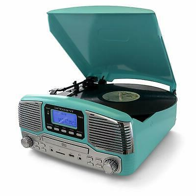 BLUETOOTH RETRO LP 33/45/78 RPM RECORD CD PLAYER FM STEREO R