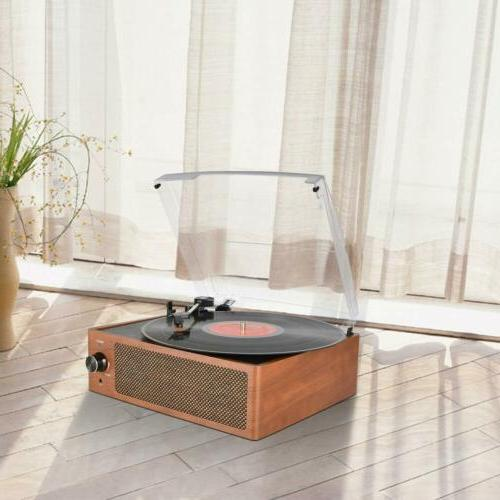 Bluetooth Vintage Vinyl Record Player Belt-Driven RCA
