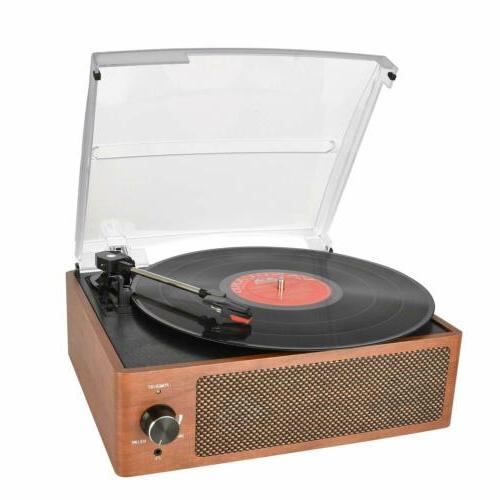 Bluetooth Record Player Belt-Driven 3-Speed Turntable, with