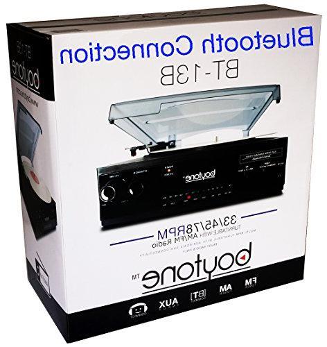 Boytone Bluetooth 3-Speed, AM/FM Radio