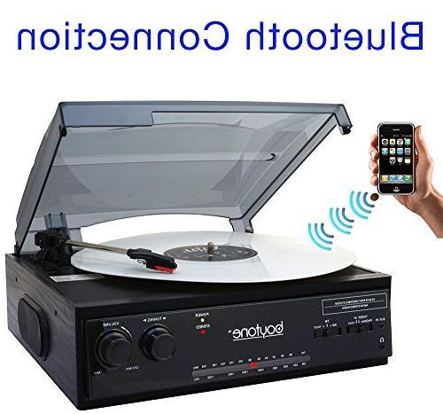 Boytone BT-13B 3-Speed, Turntable 2 built in Speakers AM/FM Radio