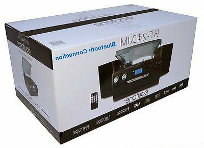 Boytone Bluetooth Record Player System CD AM/