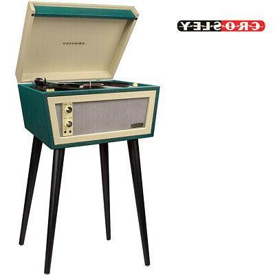 CROSLEY CR6231D-GR Dansette Sterling Green Turntable Record