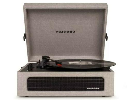 Crosley CR8017A-GY Voyager Portable Record Turntable Gray