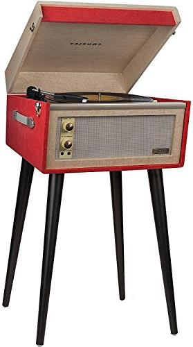 Crosley CR6233D-RE Portable Turntable with Aux-In and Bluetooth, Red