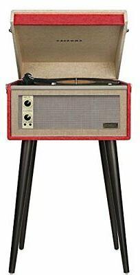 crosley cr6233d re dansette bermuda portable turntable aux i