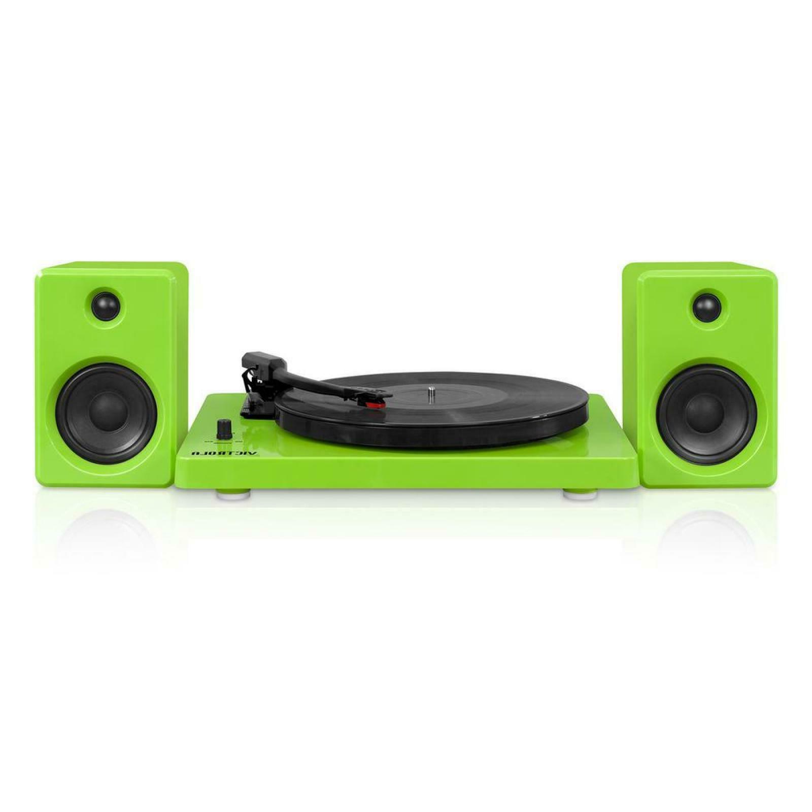 Green Vinyl Record Player 3-Speed Turntable Bluetooth 50W Au