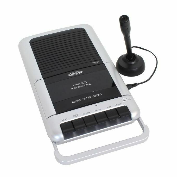 Jensen MCR-100 Player/Recorder 1 Headphone Jack & Line-in