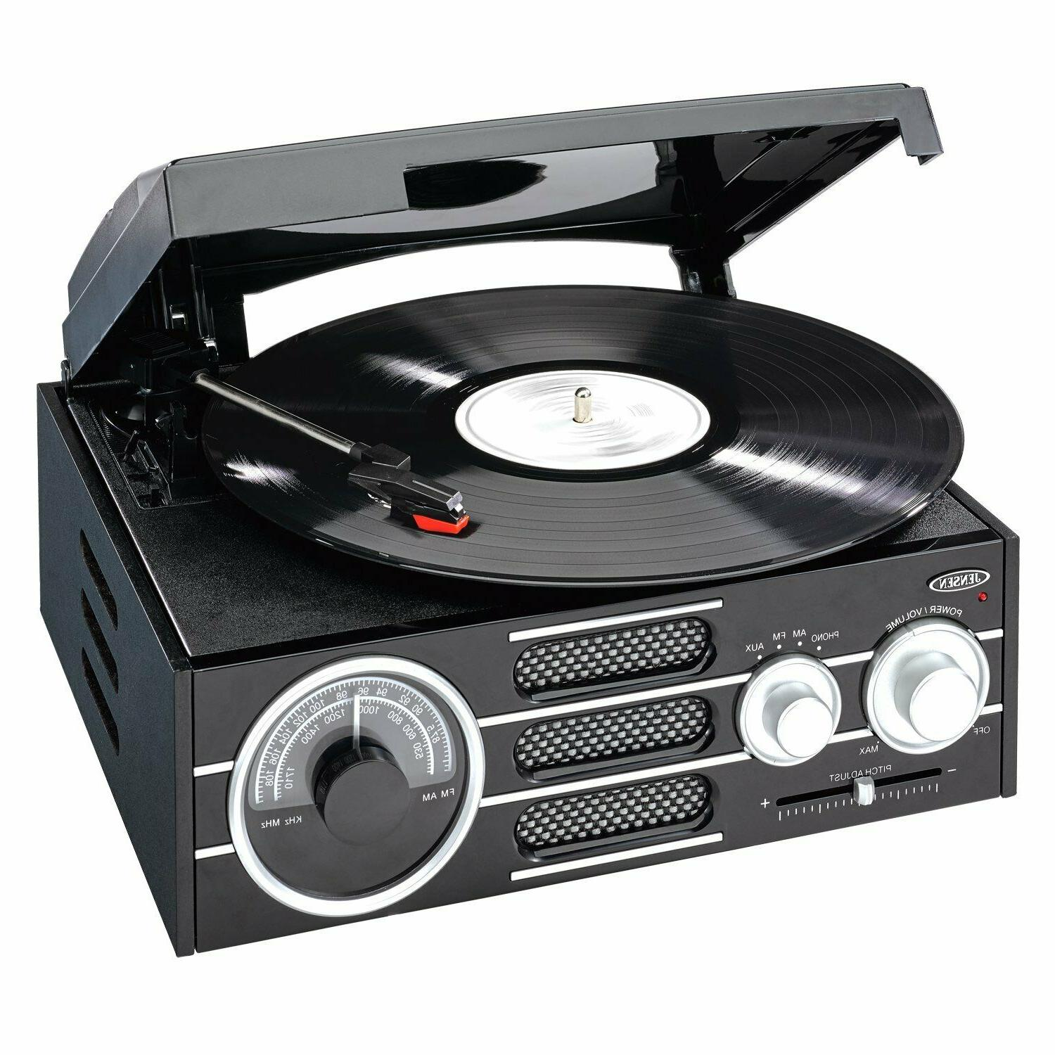 NEW Jensen 3-Speed Record Player Turntable RCA Software