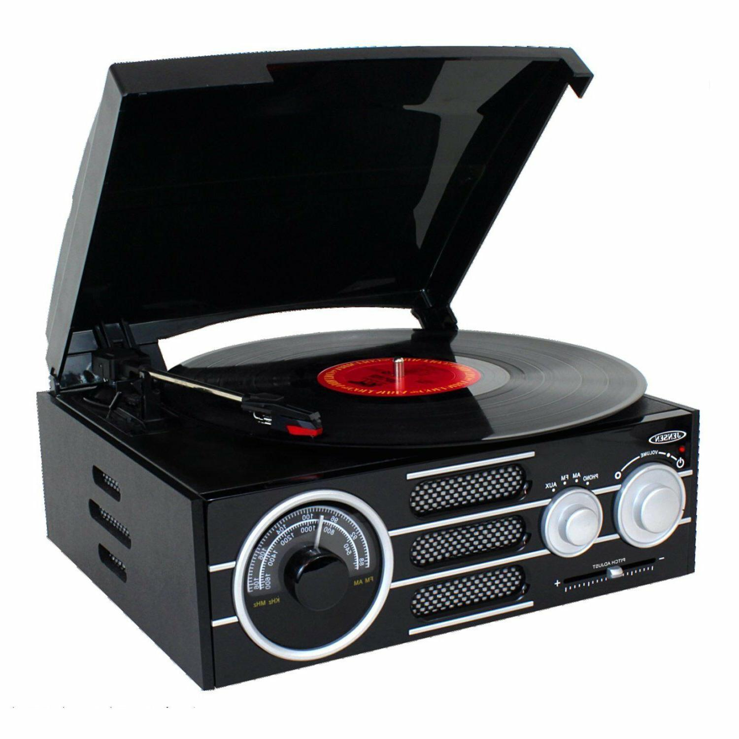 new 3 speed record player stereo turntable