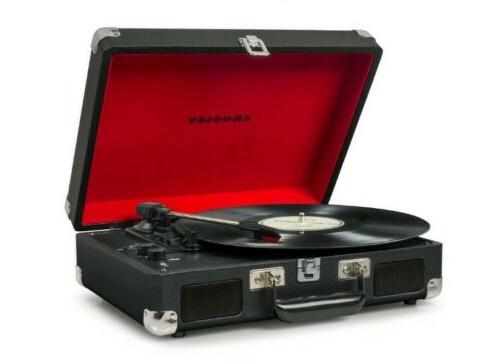 NEW Stereo Turntable red Black CR8005D-BK Record