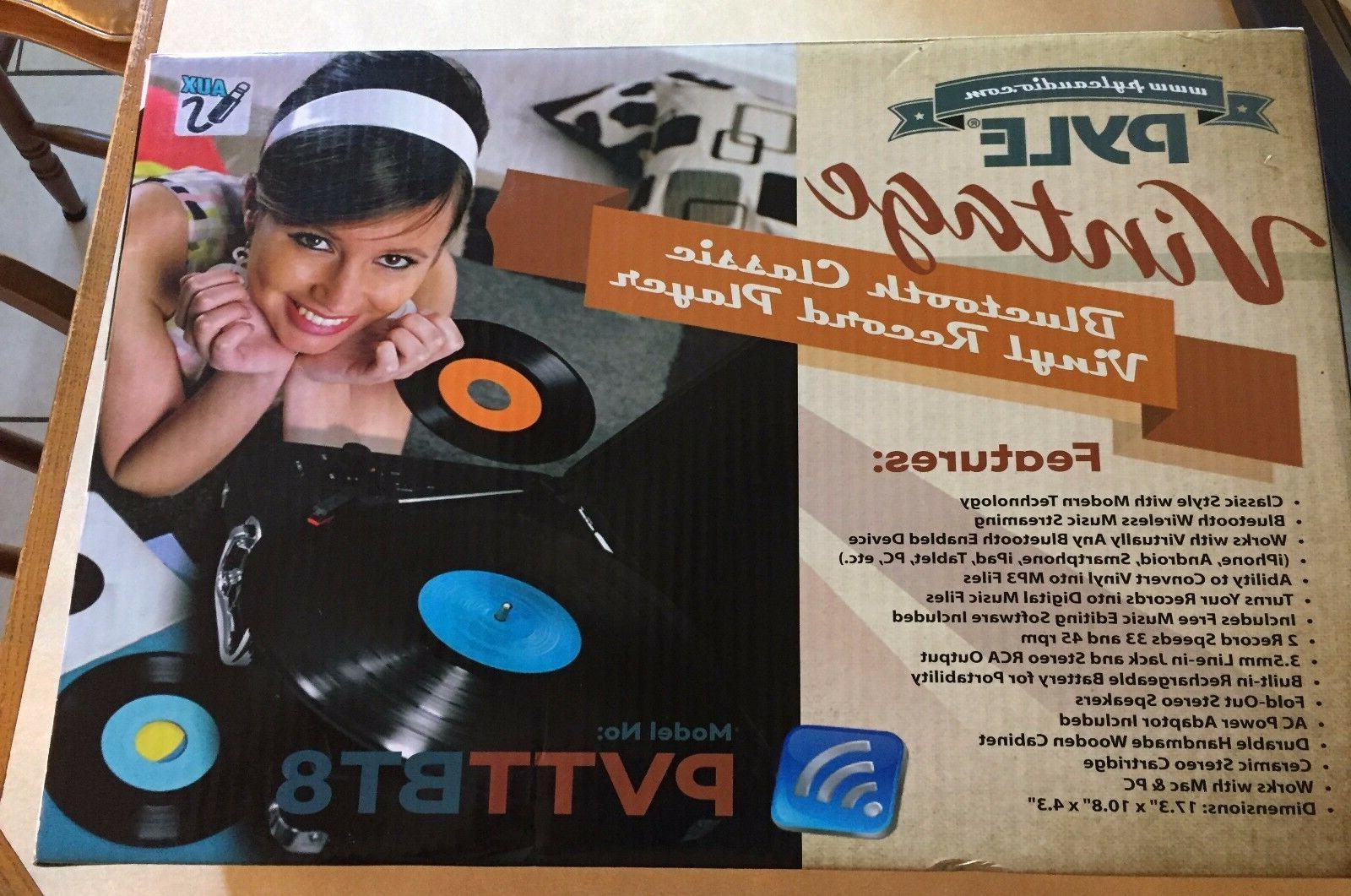 new vintage bluetooth classic vinyl record player