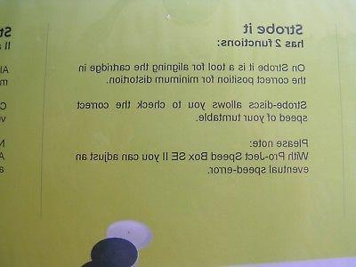 Pro-Ject Strobe Disk Needle Record
