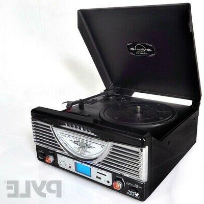Pyle Retro Style Turntable Vinyl Record.